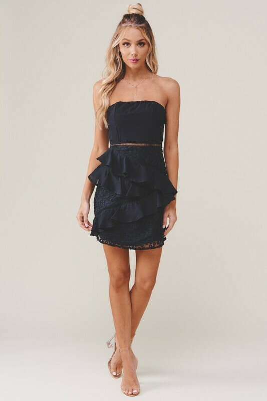 Celeste Ruffled Mini Dress
