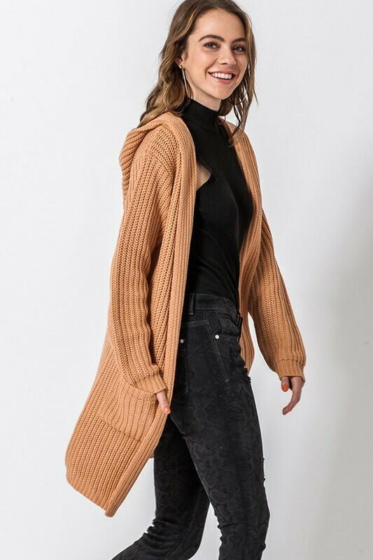 Long Line Hooded Cardigan