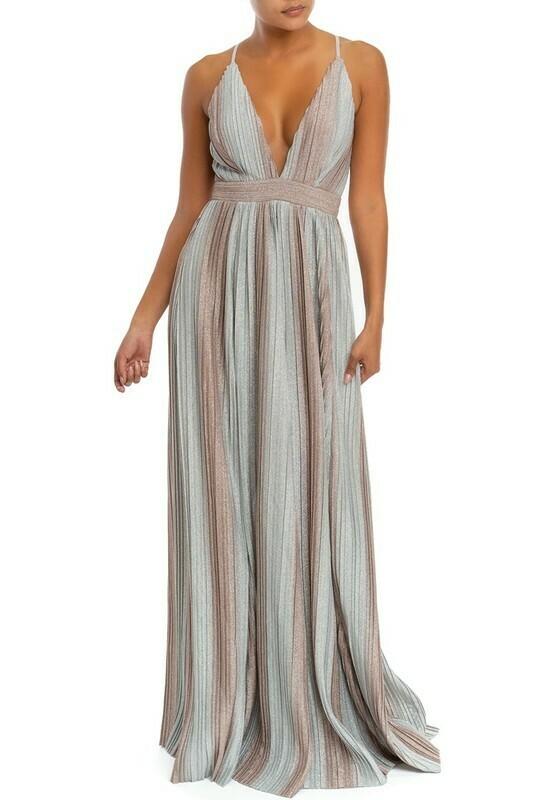 Veanna Striped Maxi Dress