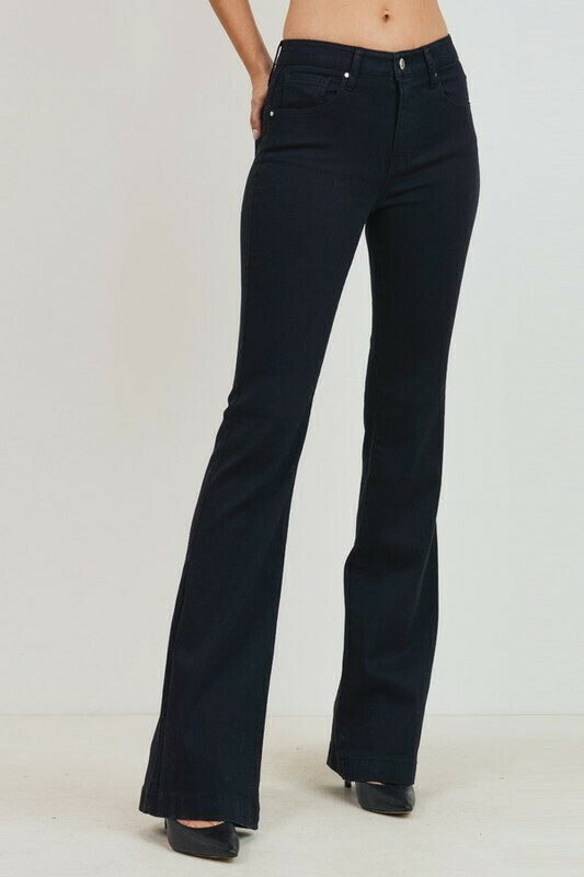 High Rise Boot-Cut Skinny Jeans