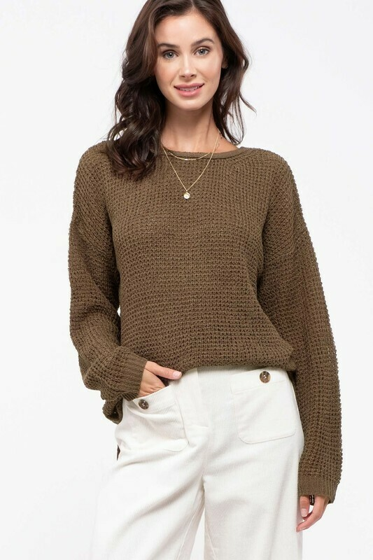 Crisscrosss Knit Sweater