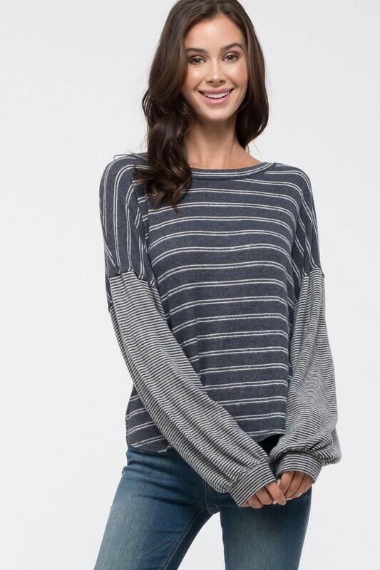 Knit Striped Top