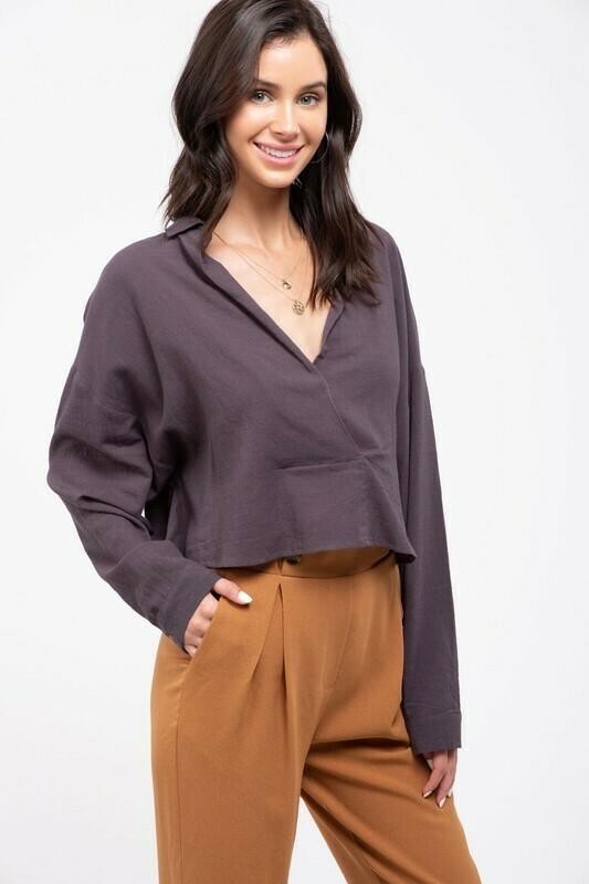 Cropped Woven Shirt
