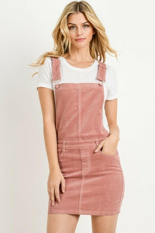 Sam Corduroy Overall Skirt
