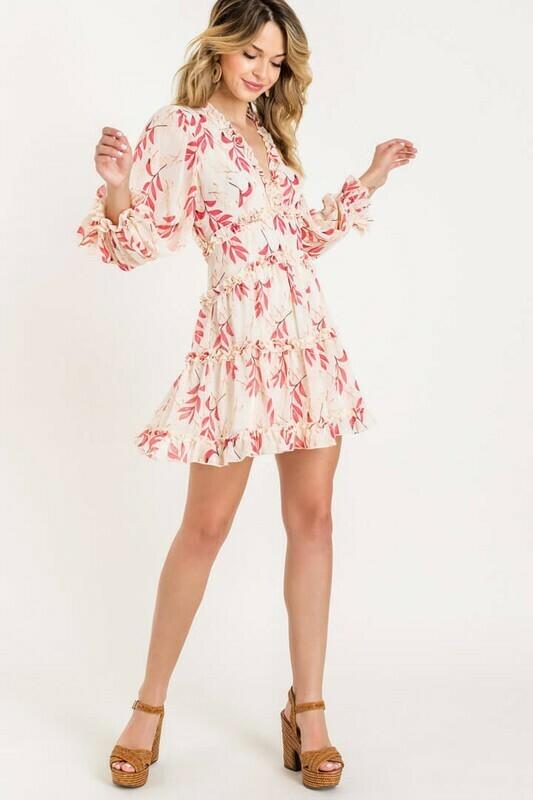 Ruffle Open Back Mini Dress