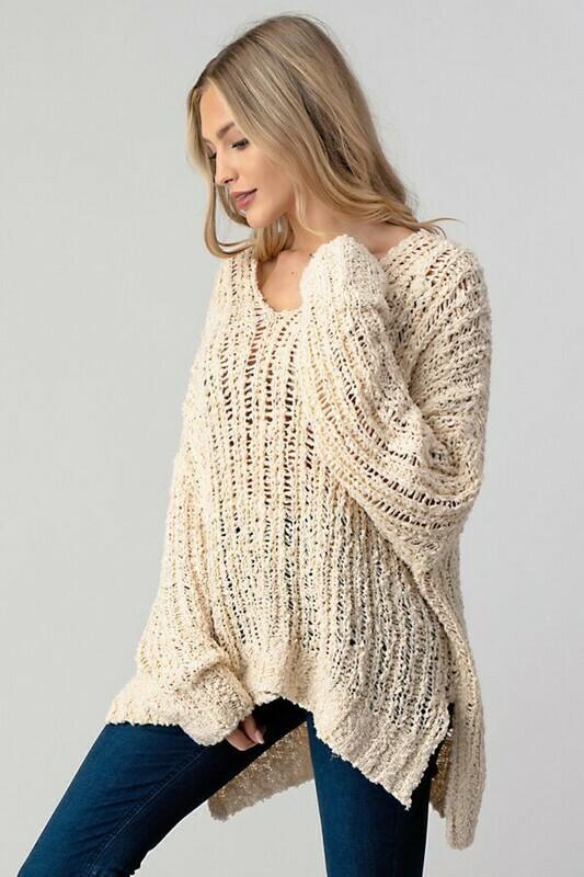 V-Neck Oversized Sweater