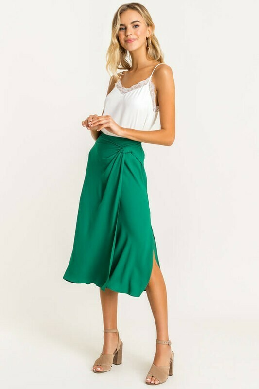 Knot Midi Skirt