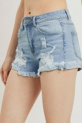 Mid Rise Cuff Shorts
