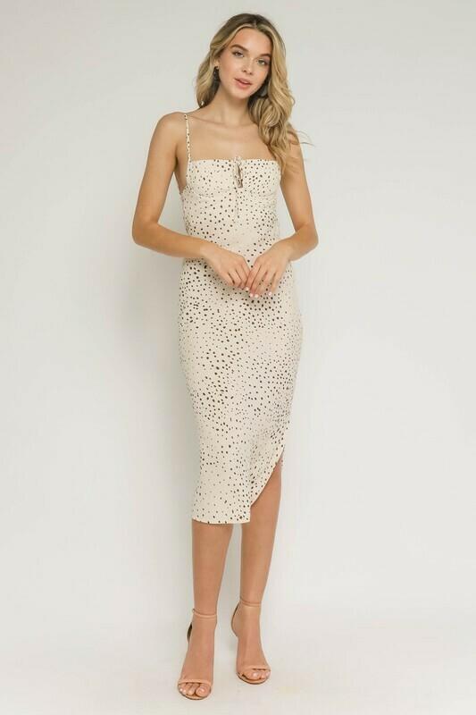 Polka Dot Sweetheart Midi Dress