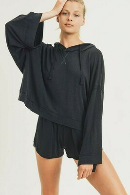 Mineral Wash French Terry Oversized Pullover
