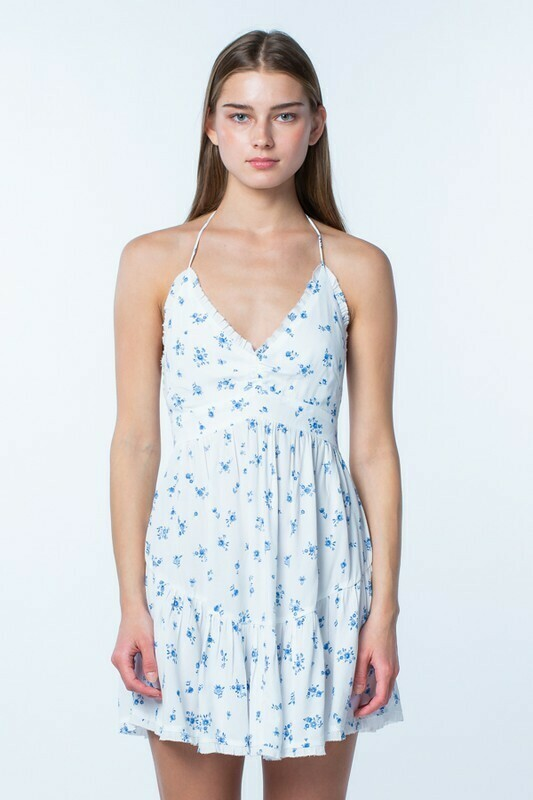 Cece Floral Halter Dress