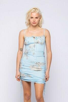 Boho Side Tie Mini Dress