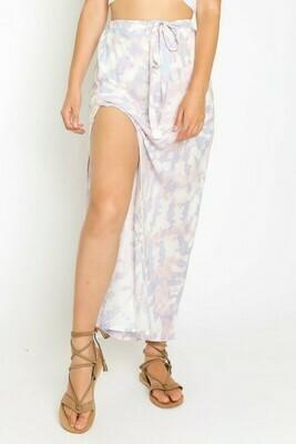 Lavender Tie Dye Maxi Skirt