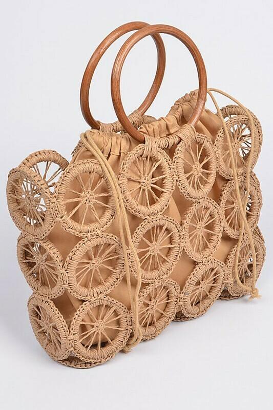 Monotone Crochet Handbag