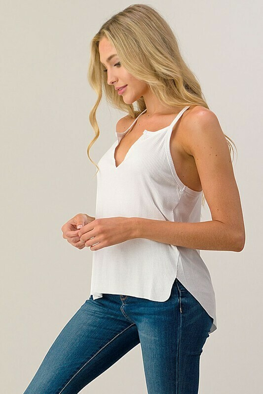 Split Center Ribbed Cami