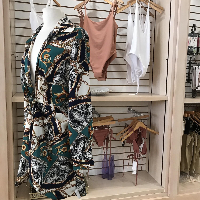 Cindy Chain Waist Tie Dress
