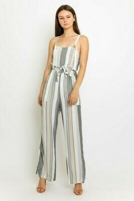 Pastel Striped Jumpsuit