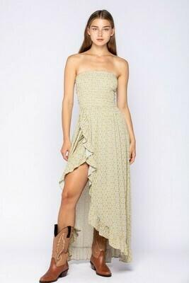 Aztec Print Off-Shoulder Maxi Dress