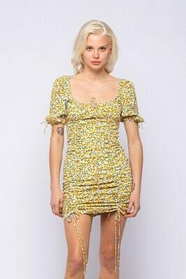 Macy Floral Ruched Mini Dress