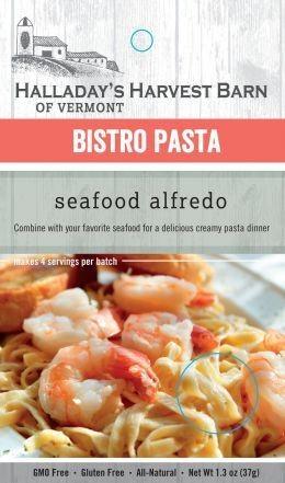 Halladay's Harvest Barn Bistro Pasta Seafood Alfredo