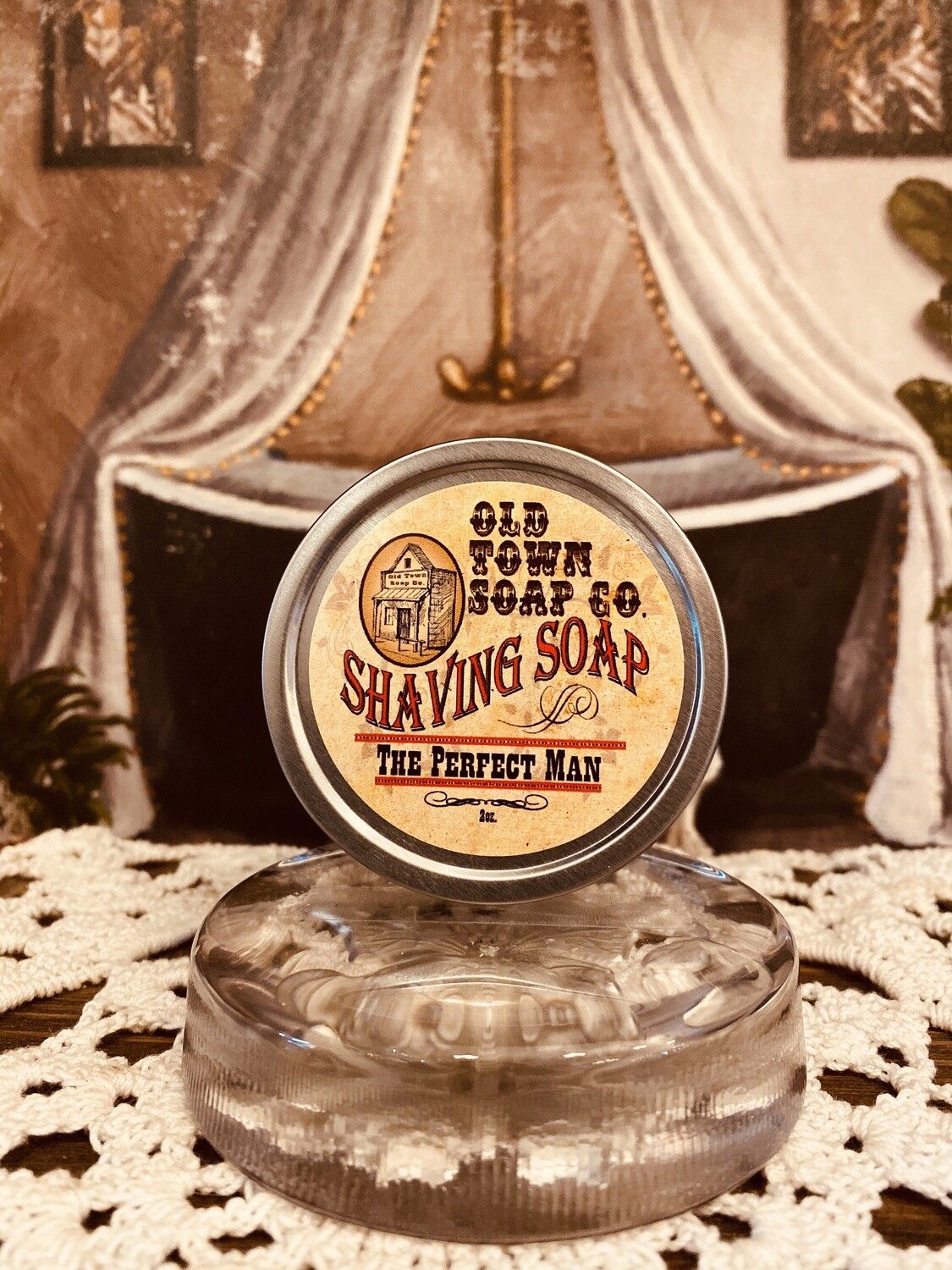 The Perfect Man -Shave Soap Tin