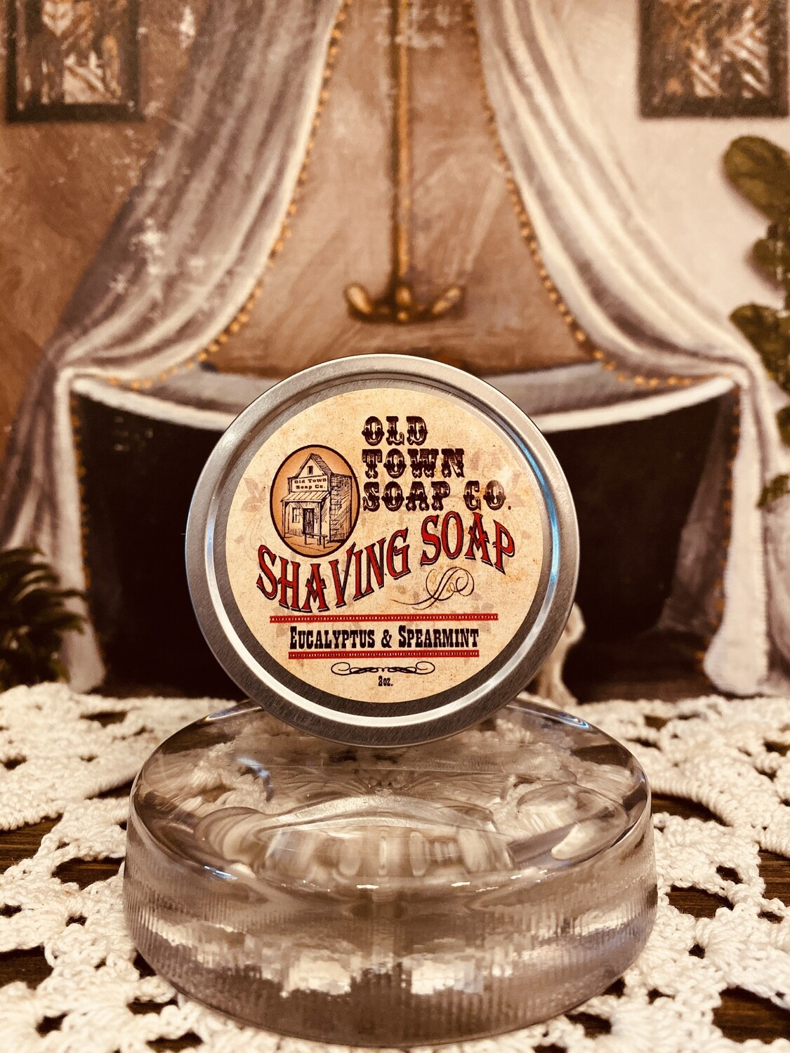 Eucalyptus & Spearmint -Shave Soap Tin