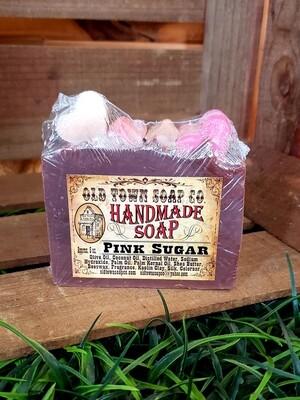 Hearts in Pink Sugar -Bar Soap
