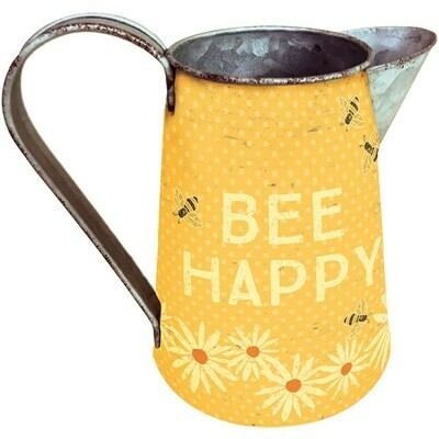 Bee Happy Pitcher -Primitives by Kathy