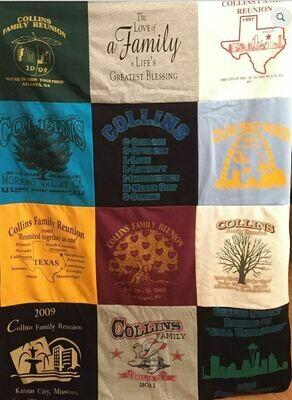 Custom T-Shirt Memory Blanket