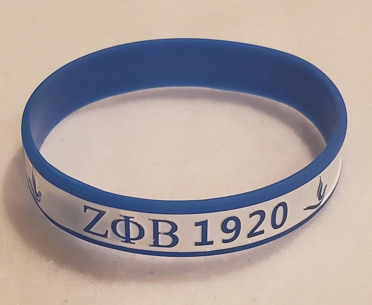 Zeta PHI Beta Silicone Band -2