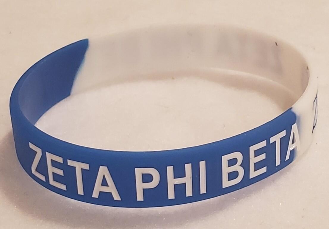 Zeta PHI Beta Silicone Band -3