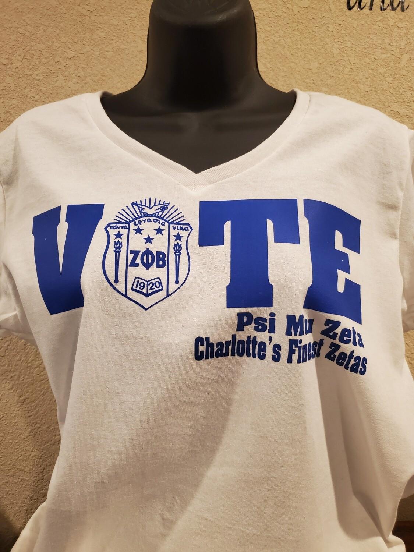 Psi Mu Zeta Chapter Vote Shirt