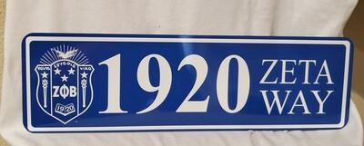 Zeta Phi Beta Aluminum Street Sign Display