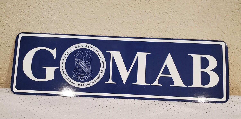 GOMAB Aluminum Street Sign Display