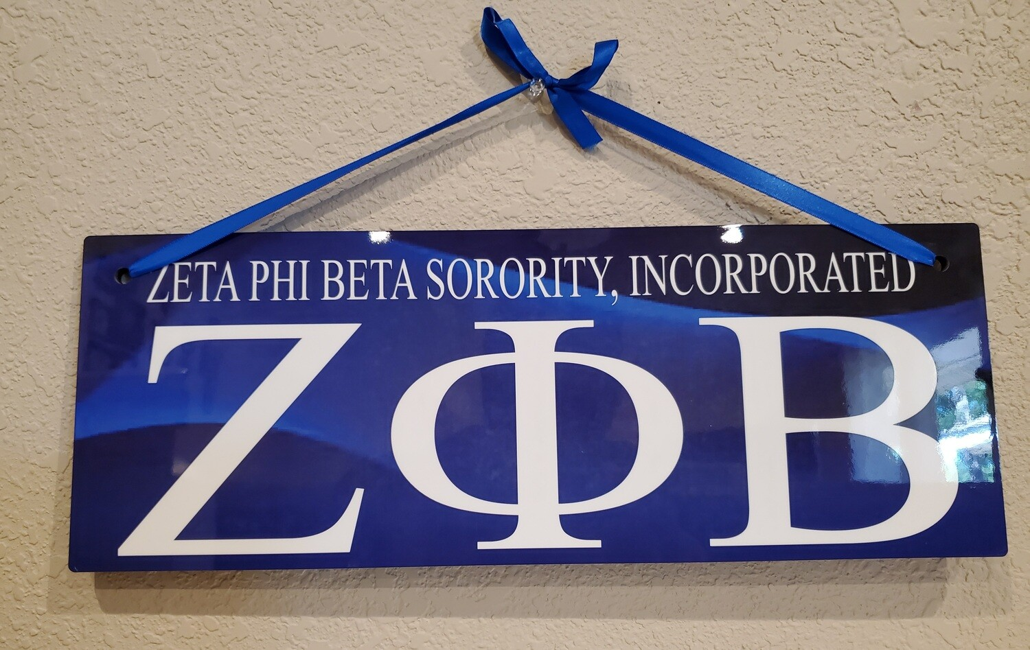 Zeta Phi Beta Wall Display