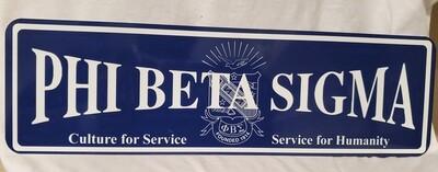 Phi Beta Sigma Aluminum Street Sign Display