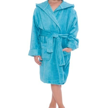 Kid's Bamboo Hooded Terry Bathrobe
