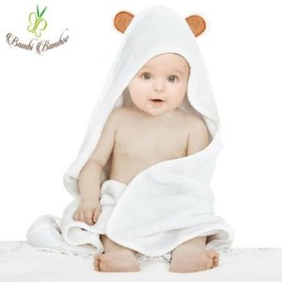 Baby 3-Piece Bamboo Hooded Towel Set