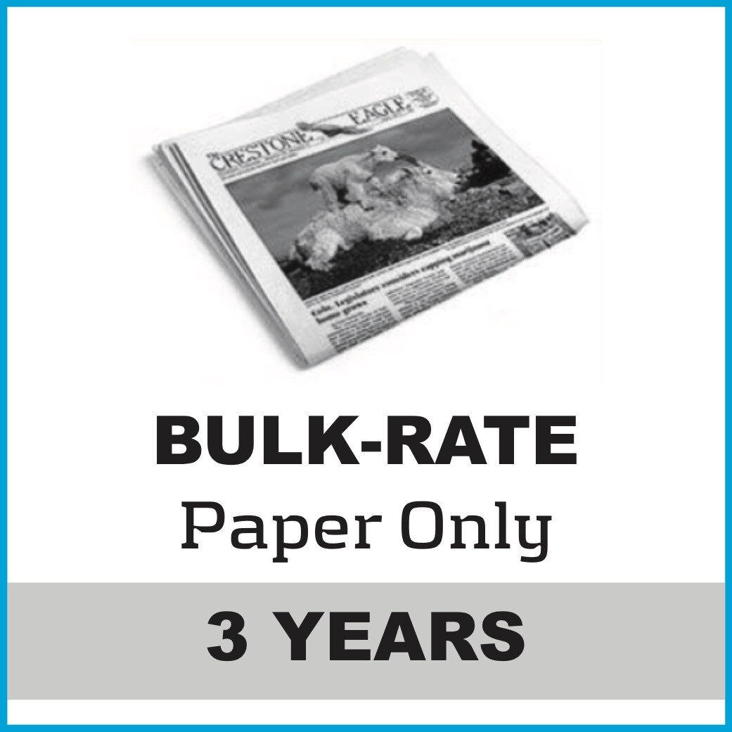 Crestone Eagle News -  3 Year Paper Subscription