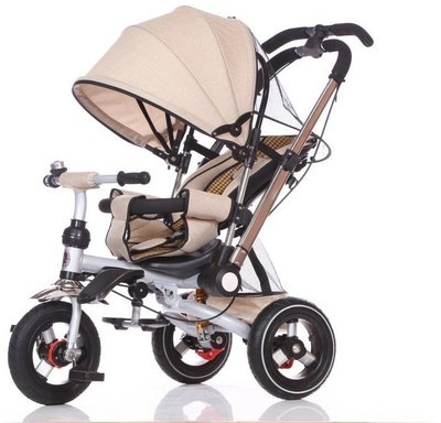 Triciclo silla de paseo Juguea BEIG
