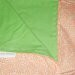 Orange and green baby blanket