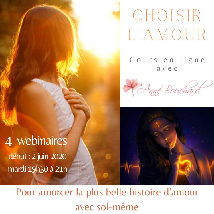 Choisir l'amour en soi, cours en ligne