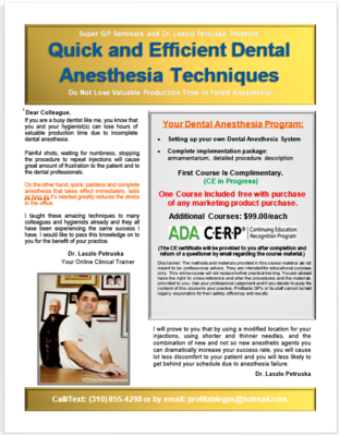 Efficient Dental Anesthesia Course (CE Certification in Progress)