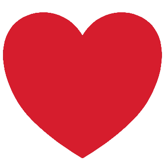 """3"""" Heart Shaped Stickers - (Roll of 100)"""