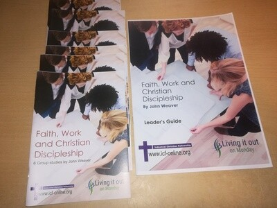 Faith, Work & Christian Discipleship - Group study pack (6 participants guides & 1 leader guide)