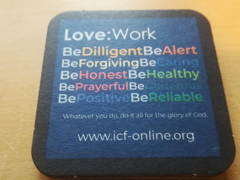 Love:Work  - 10 coasters