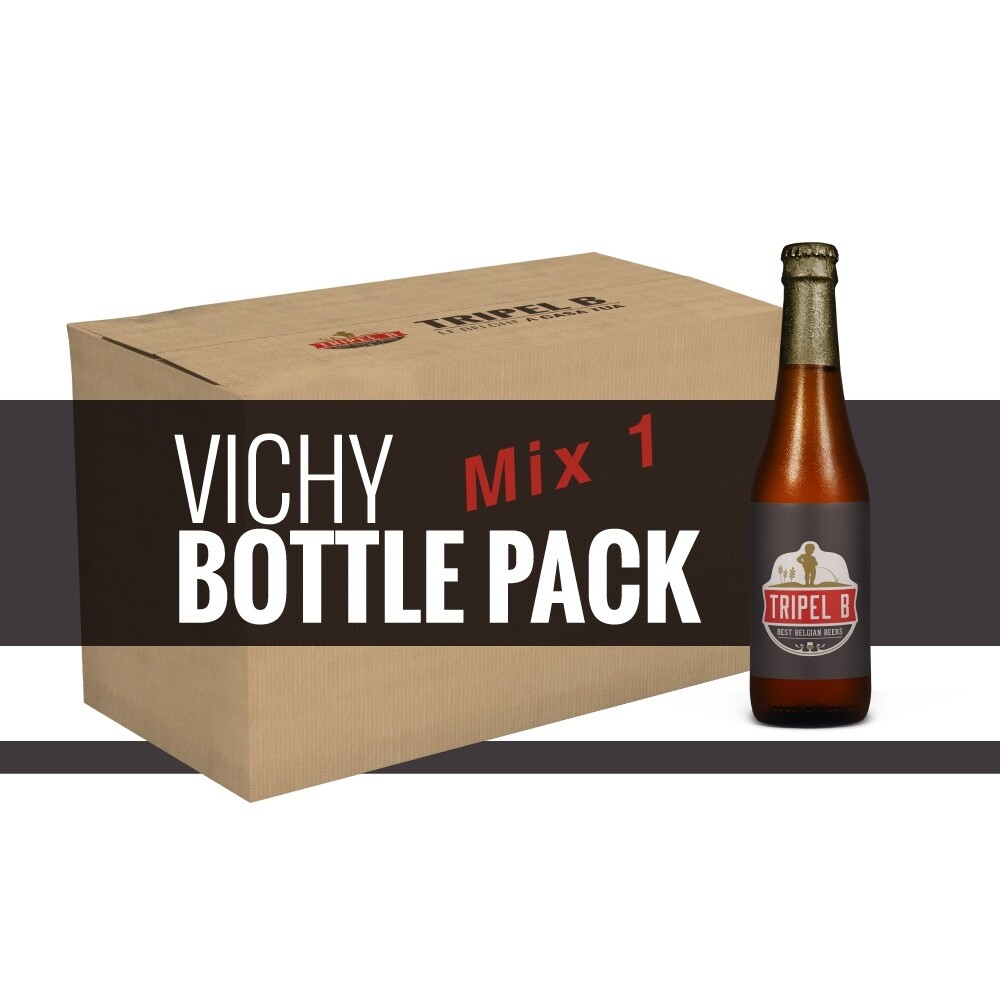 Pacchetto Mix1 - 24 x 33cl Bottiglie Vichy - Riempi la tua scatola