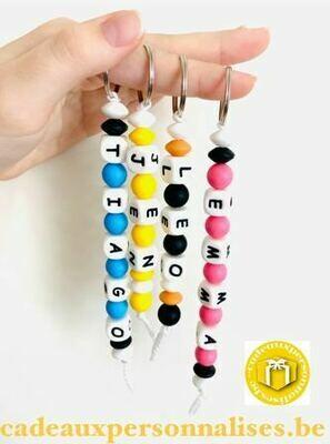 Porte-clefs silicone avec prénom