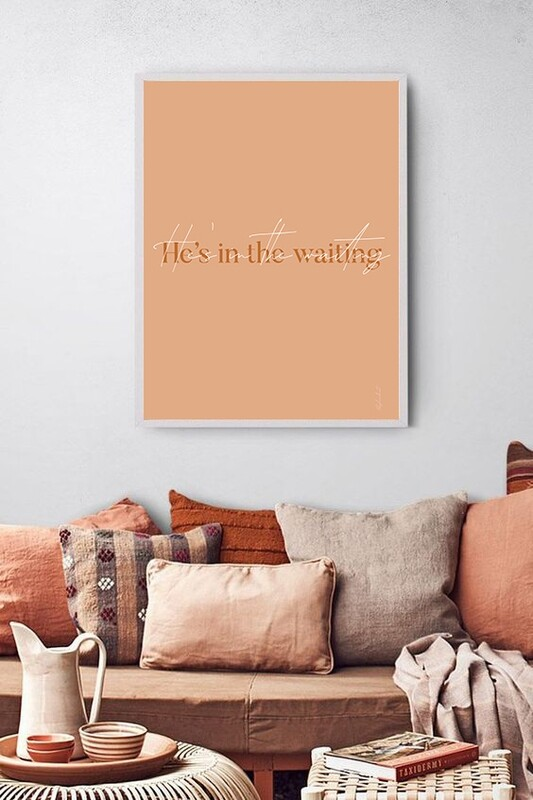 A4 - He's in the waiting - Digital print