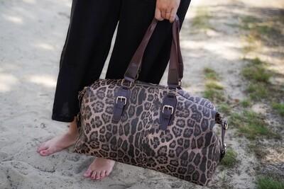 Handtas - BRIANA - weekendtas leopard